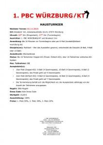 Hausturnier des 1. PBC Würzburg/KT am 01.11.2015